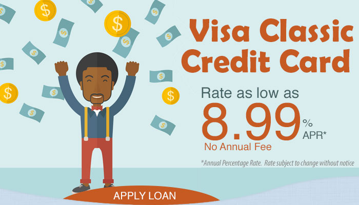 VISA Credit Card. 8.99% APR. Apply Today!